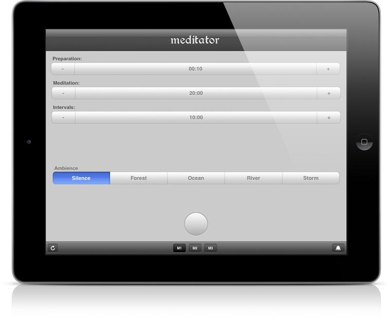 iPad with Meditator App