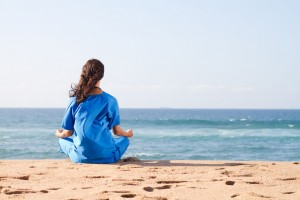 Enfermera meditando